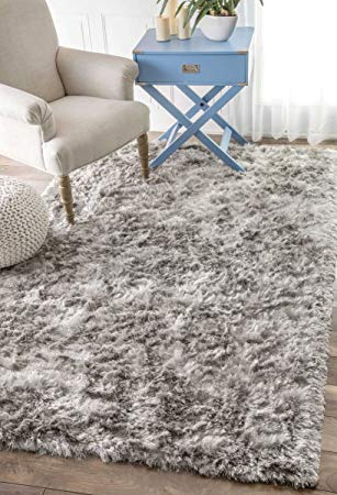 shag area rugs amazon.com: handmade soft and plush silken solid shag area rug: kitchen ABVISMU