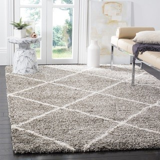 shag area rugs safavieh hudson diamond shag grey/ ivory large area rug - 10u0027 PQWPQOJ