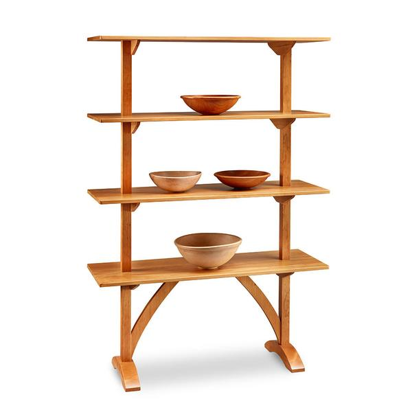 shaker furniture arched shaker display shelf - chilton furniture FFIAWTN