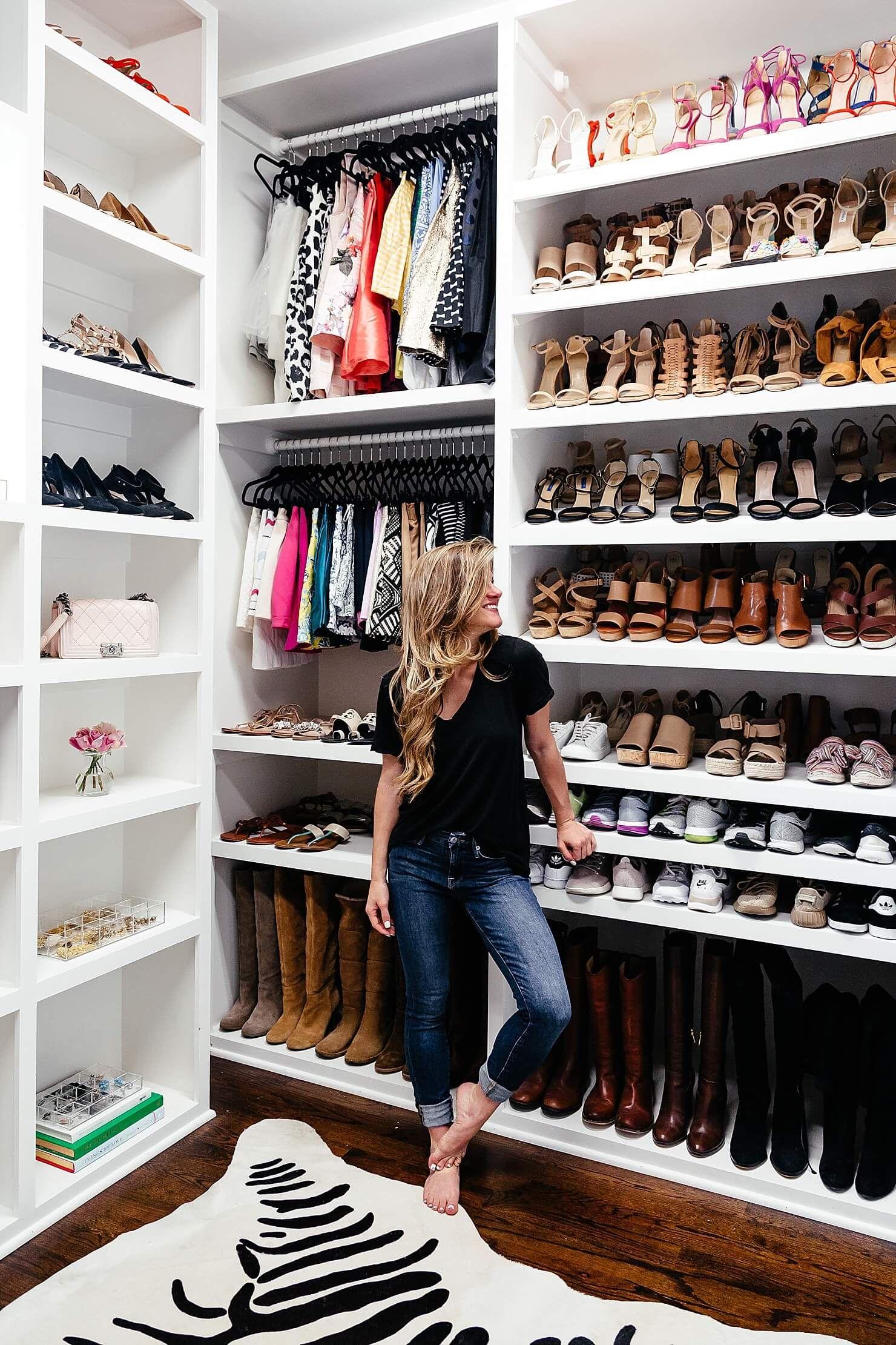 shoe closet brighton keller new home closet reveal TVEFGDV