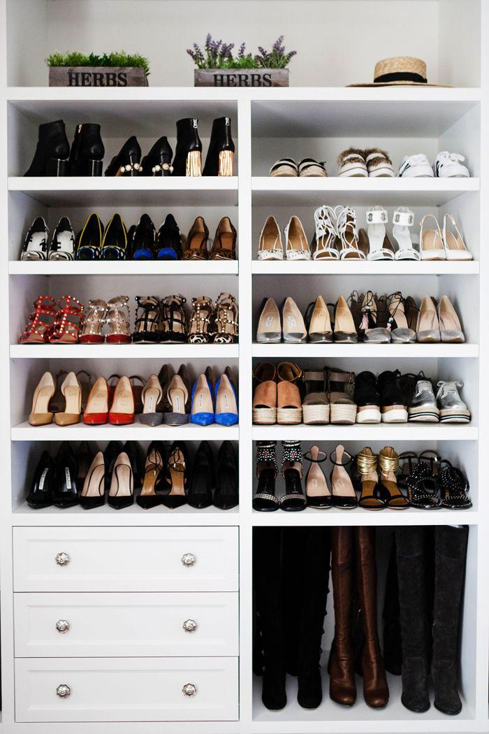 shoe closet stunning closets // 40 shoe organizing tips and tricks // closet YBFYRTV