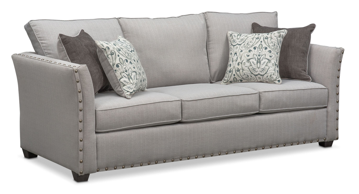 sleeper sofas mckenna queen innerspring sleeper sofa - pewter KUOHIRR
