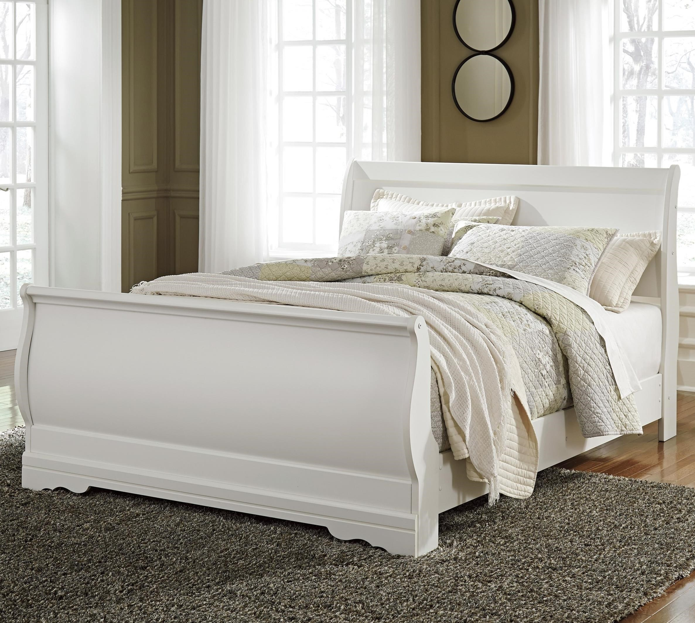 sleigh beds ashley signature design anarasiaqueen sleigh bed ... BHDYQTU