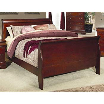 sleigh beds coaster fine furniture 200431q louis philippe style sleigh bed, queen, PGKYPXA