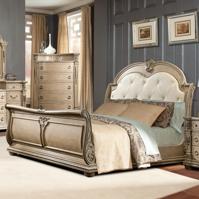 sleigh beds davis direct monacoking sleigh bed XBTEYGF
