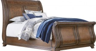 sleigh beds handly manor pecan 3 pc king sleigh bed BDHZCRE