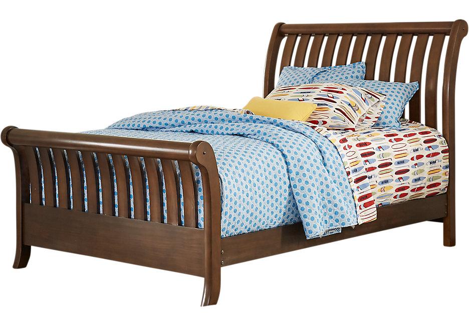 sleigh beds santa cruz cherry 3 pc full sleigh bed LZTYRJW