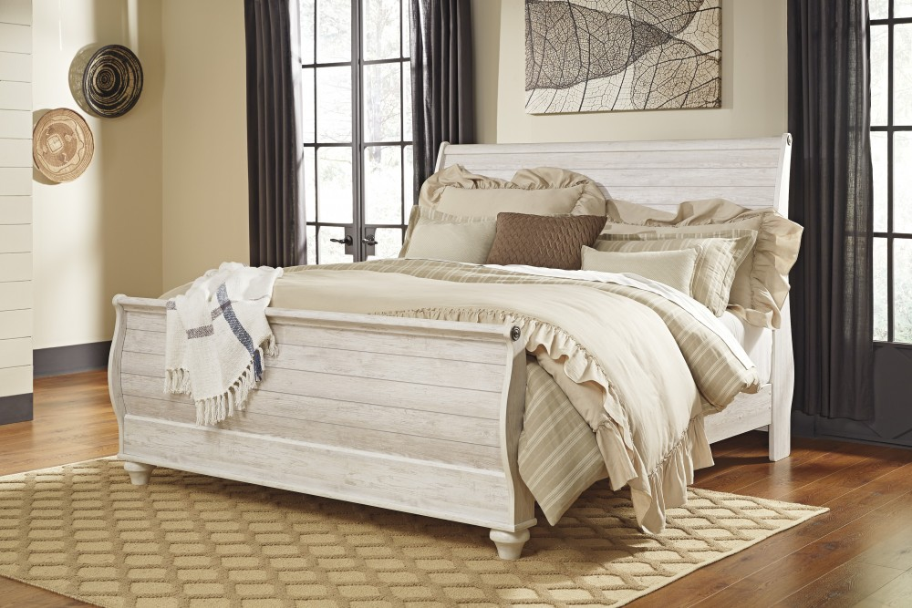 sleigh beds willowton king sleigh bed ZPOGPWB