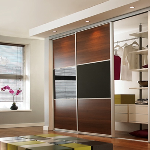 sliding wardrobe doors, ellipse aluminium frame, 2 door sliding wardrobe PFCLKWY