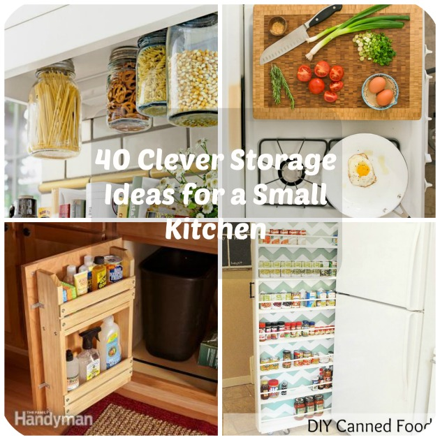 small kitchen storage 40 clever storage ideas for a small kitchen VVFUOGN