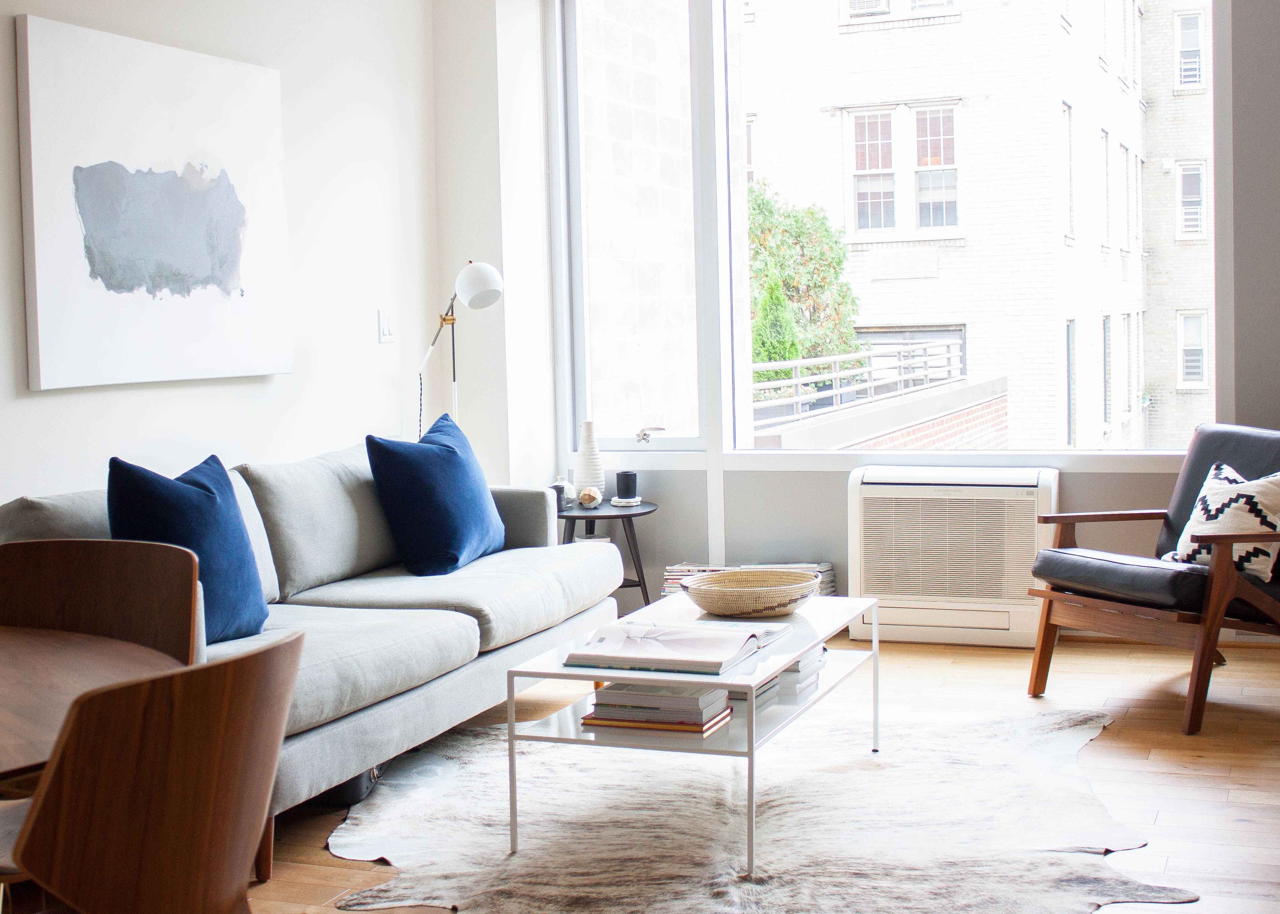 small living room furniture tour: a nyc coupleu0027s minimalist retreat from hectic city life GBEYZTM