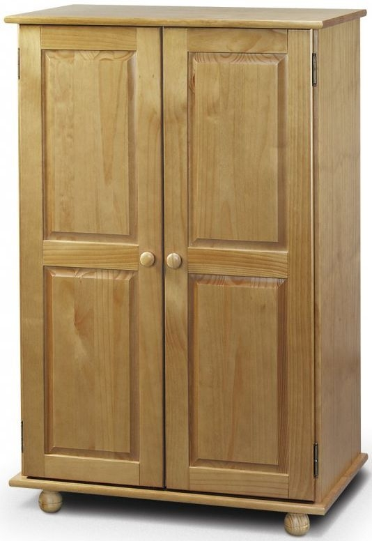 small wardrobes julian bowen pickwick pine double wardrobe - short 2 door LTYBGXD