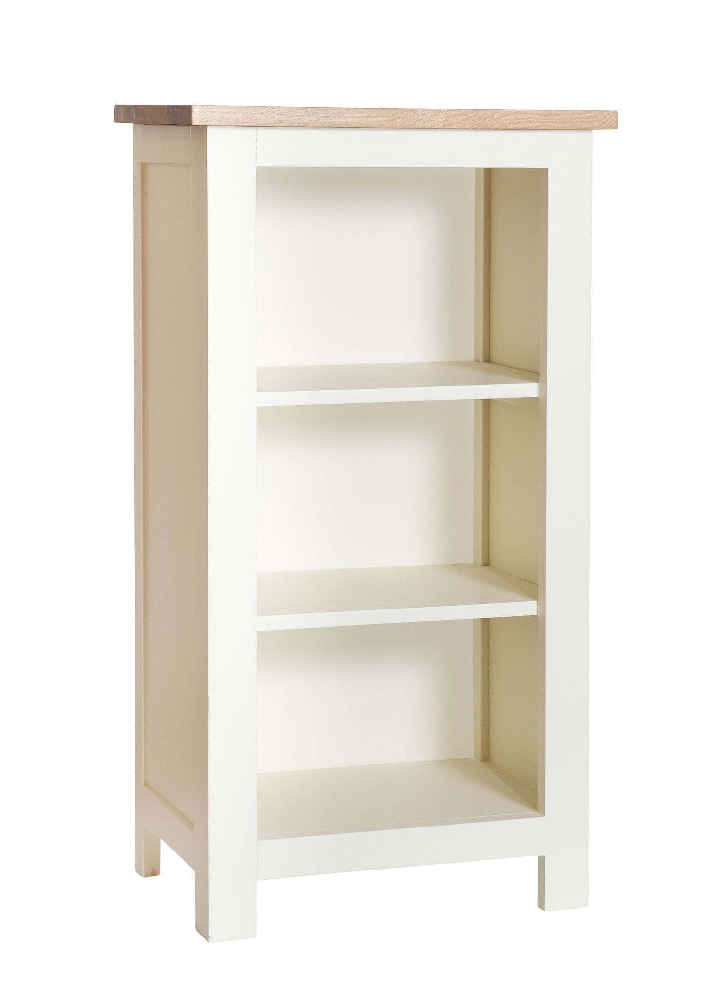 so - cream painted oak top small bookcase TLRHUNH