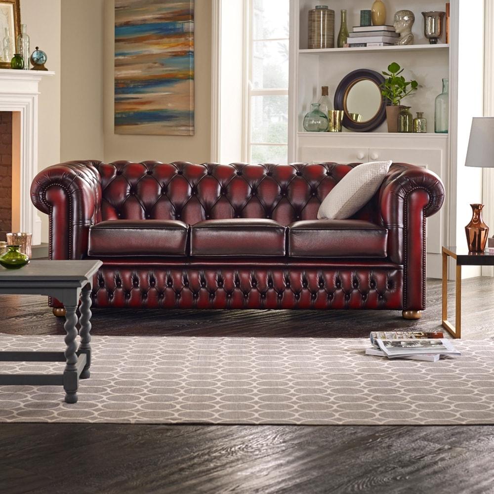 Sofa Chesterfield 3 Seater Lowrowa