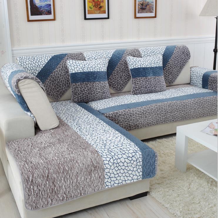 sofa covers 1 piece fleeced fabric sofa cover european style soft modern slip FEKKGHW