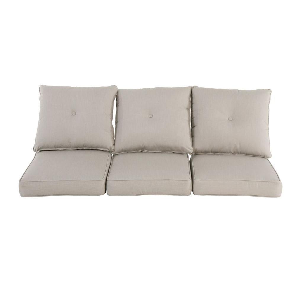 sofa cushions hampton bay broadview sunbrella spectrum dove replacement outdoor sofa  cushion ZNIWTHE
