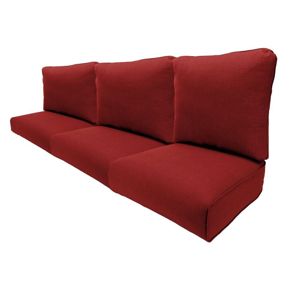 sofa cushions hampton bay woodbury chili replacement outdoor sofa cushion BJOMXQQ