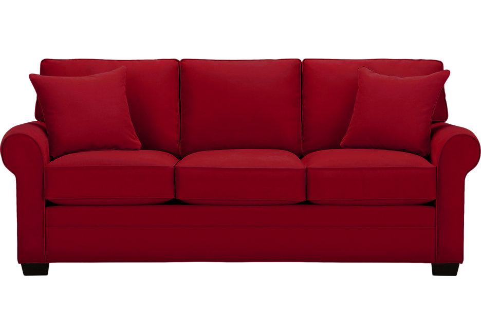 sofa settee cindy crawford home bellingham cardinal sofa - sofas (red) RWVTJTA