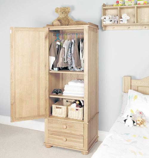 solid oak single wardrobe - amelie LEXAQJI