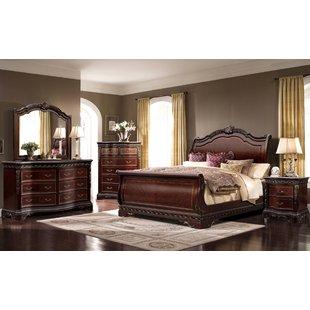 solid wood bedroom furniture queen sleigh 4 piece bedroom set PALQXVI