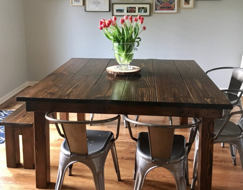 square farmhouse dining table AKBWGNO