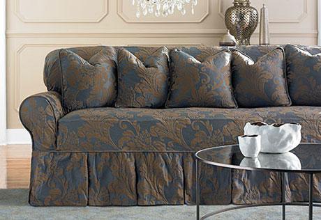 stylish sofa slipcovers sofa slipcovers view details u003e · two toned matelasse damask ujvenat RRNIMDV