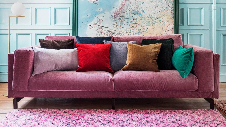 stylish sofa slipcovers the bemz zaragoza vintage velvet slipcover in clover LGNGXWP