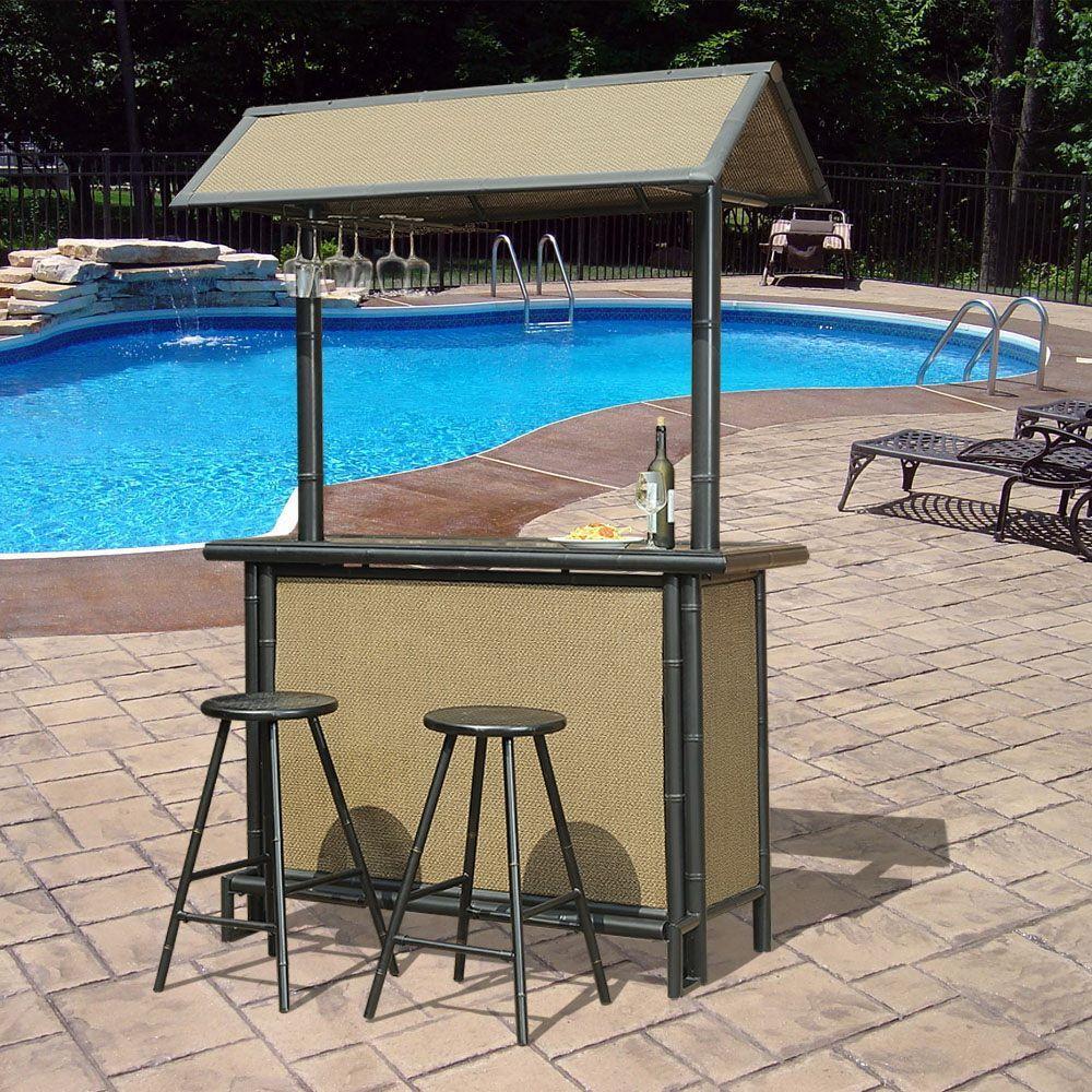 sunjoy fiji 3-piece patio bar set HDNKAMZ