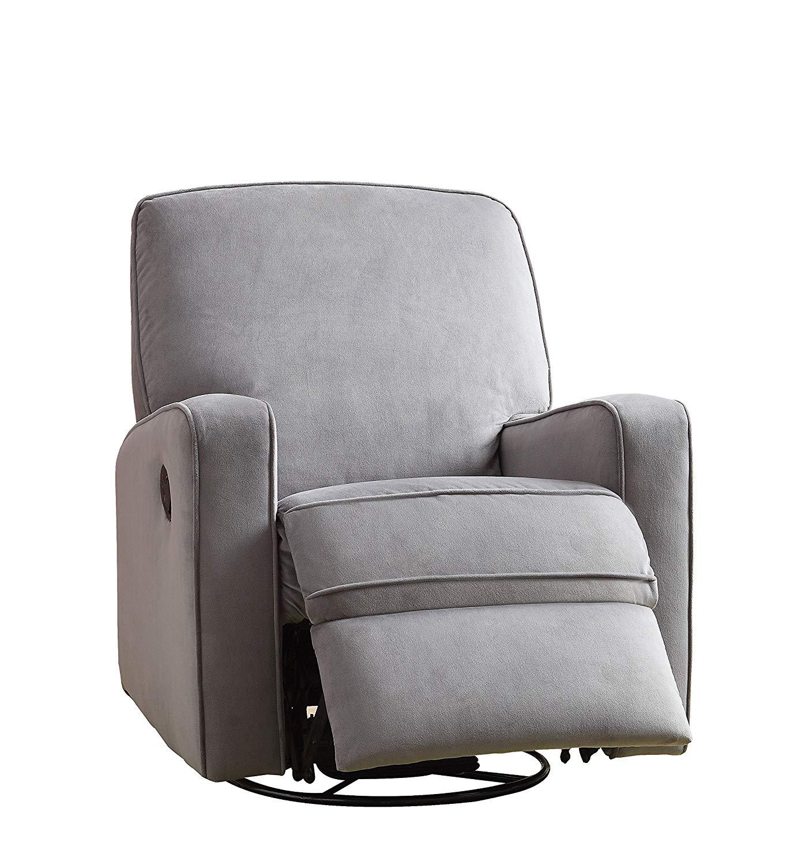 swivel rocker recliner amazon.com: pulaski sutton swivel glider recliner, zen grey with stella LRLSMFX