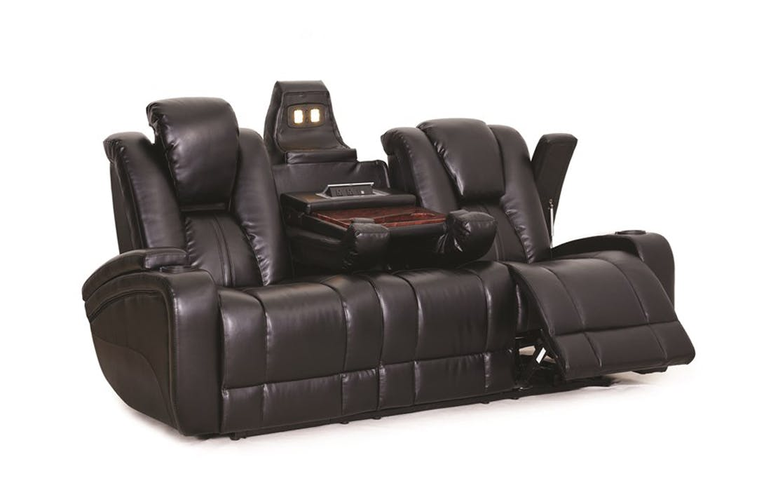 synergy home furnishings ebony power reclining sofa 042232 VXODYBS