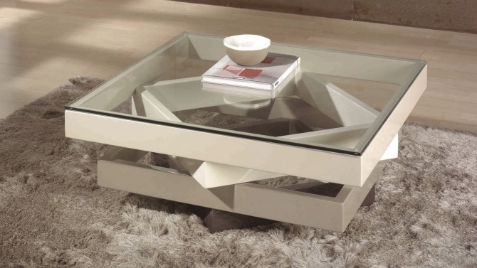 table salon table basse moderne en verre - hana ZIAVYAW