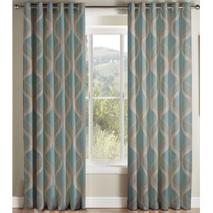 teal curtains cyrus curtains (set of 2) ODYSZNF