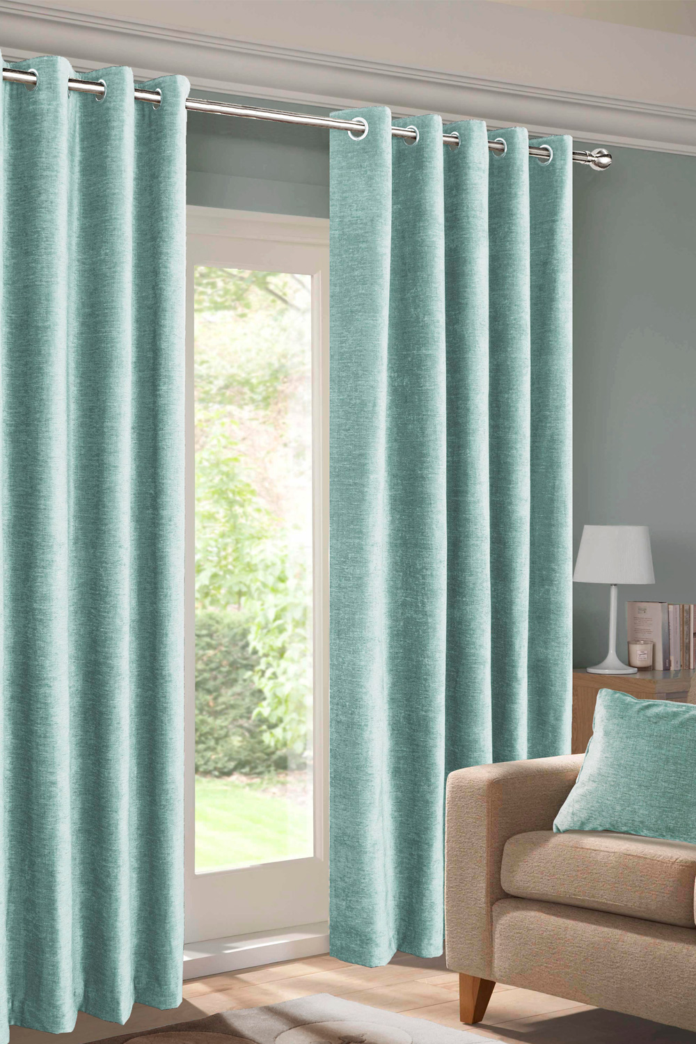 teal curtains expand IRTMOMW