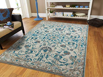 teal rugs traditional vintage area rug distressed rug teal blue gray beige 8x11 PHNLXKG