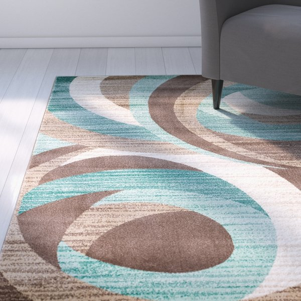 teal rugs zipcode design rick teal area rug u0026 reviews | wayfair WWHPJPF