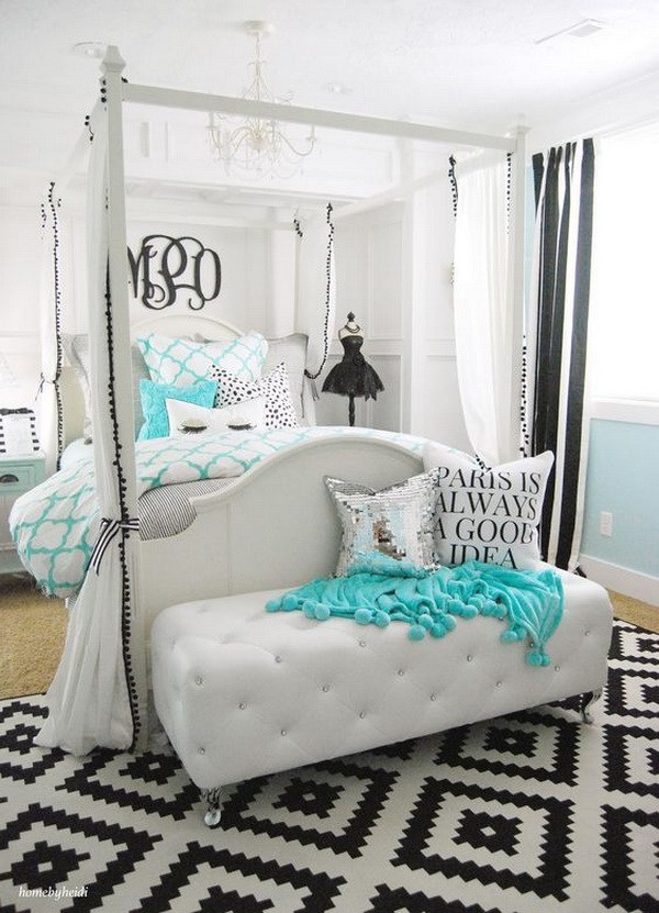 teen girl bedroom tiffany inspired bedroom for teen girls. ZQCHFET