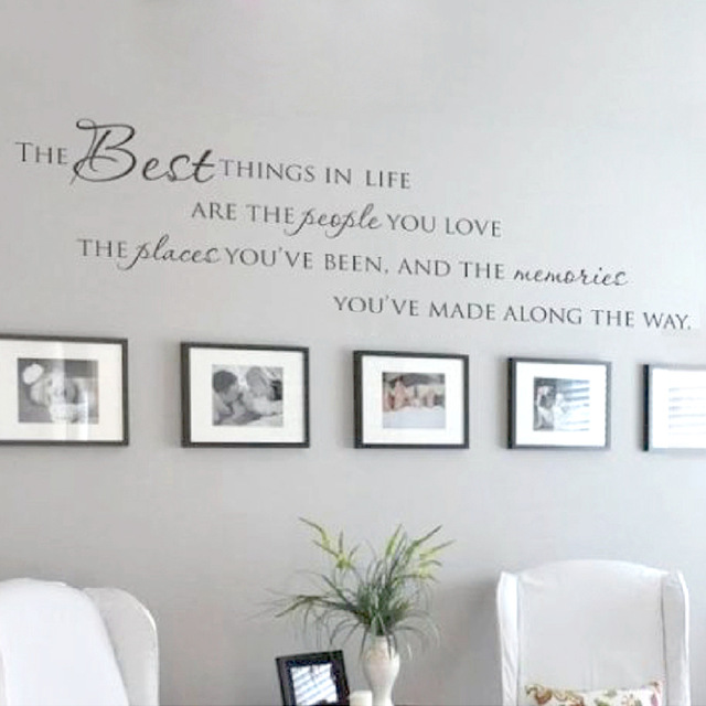 the best things in life vinyl wall decals ~ love memories CLNEKAD