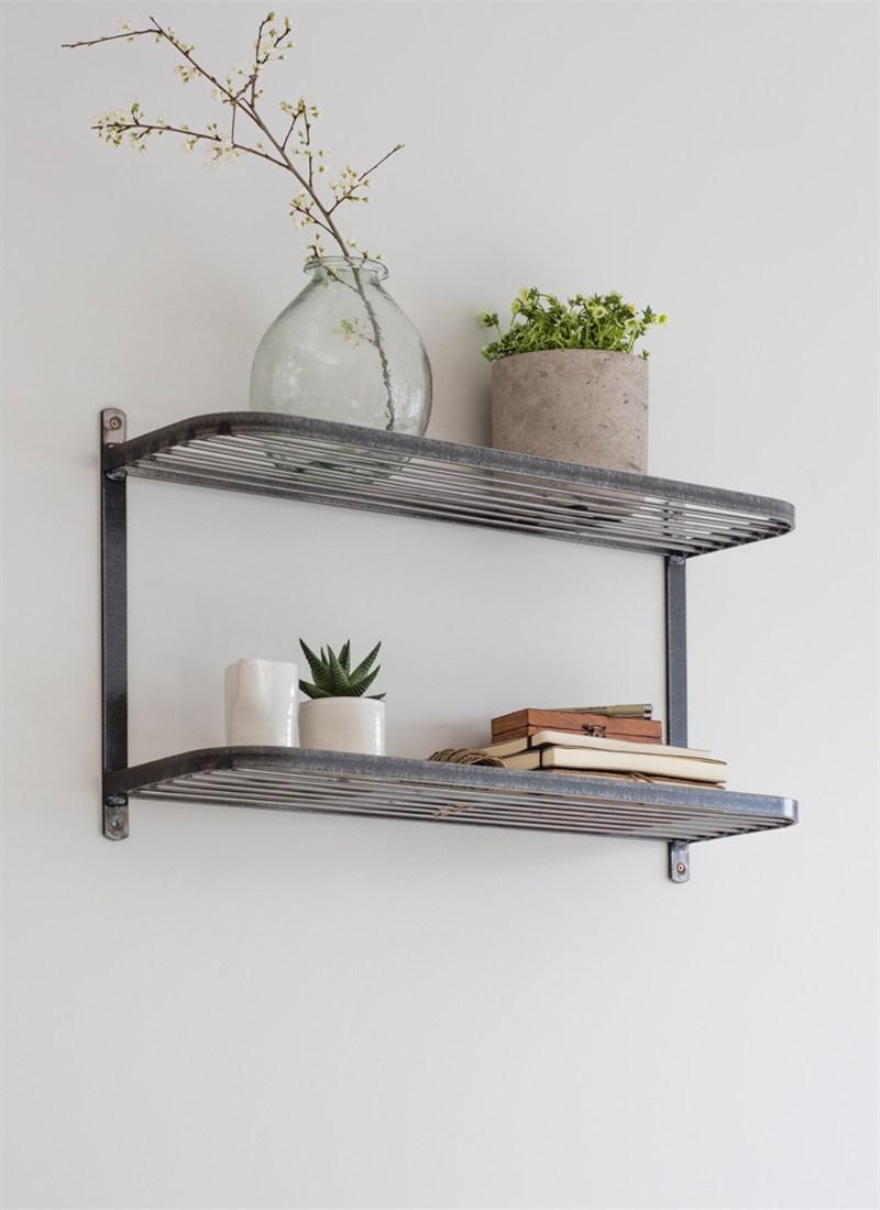 the industrial farringdon double wall shelf is ideal storage in the DKPFSXU