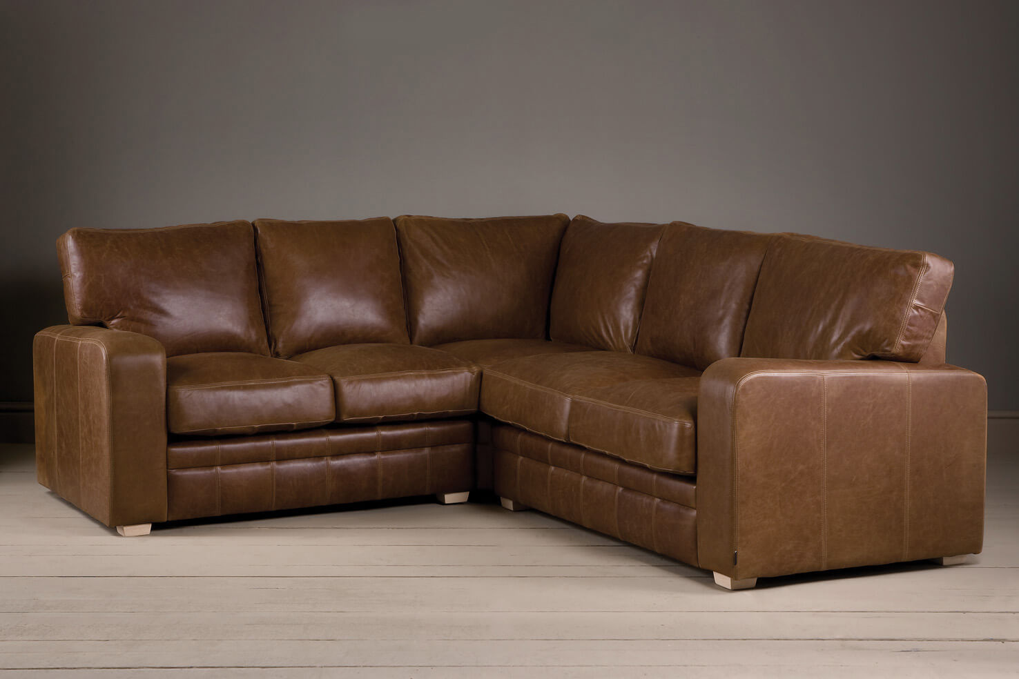 the square arm leather corner sofa JEKOFZR