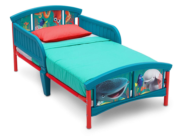 toddler beds amazon.com : delta children plastic toddler bed, disney/pixar finding dory JTSUDZL