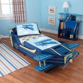 toddler beds kidkraft airplane blue toddler bed VCIZFAV