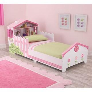 toddler beds kidkraft dollhouse pink and white toddler bed MLAJKJJ