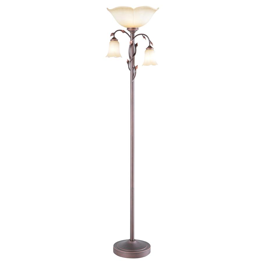 torchiere floor lamp allen + roth eastview 72.4-in dark oil-rubbed bronze 3-way torchiere BZGTSON