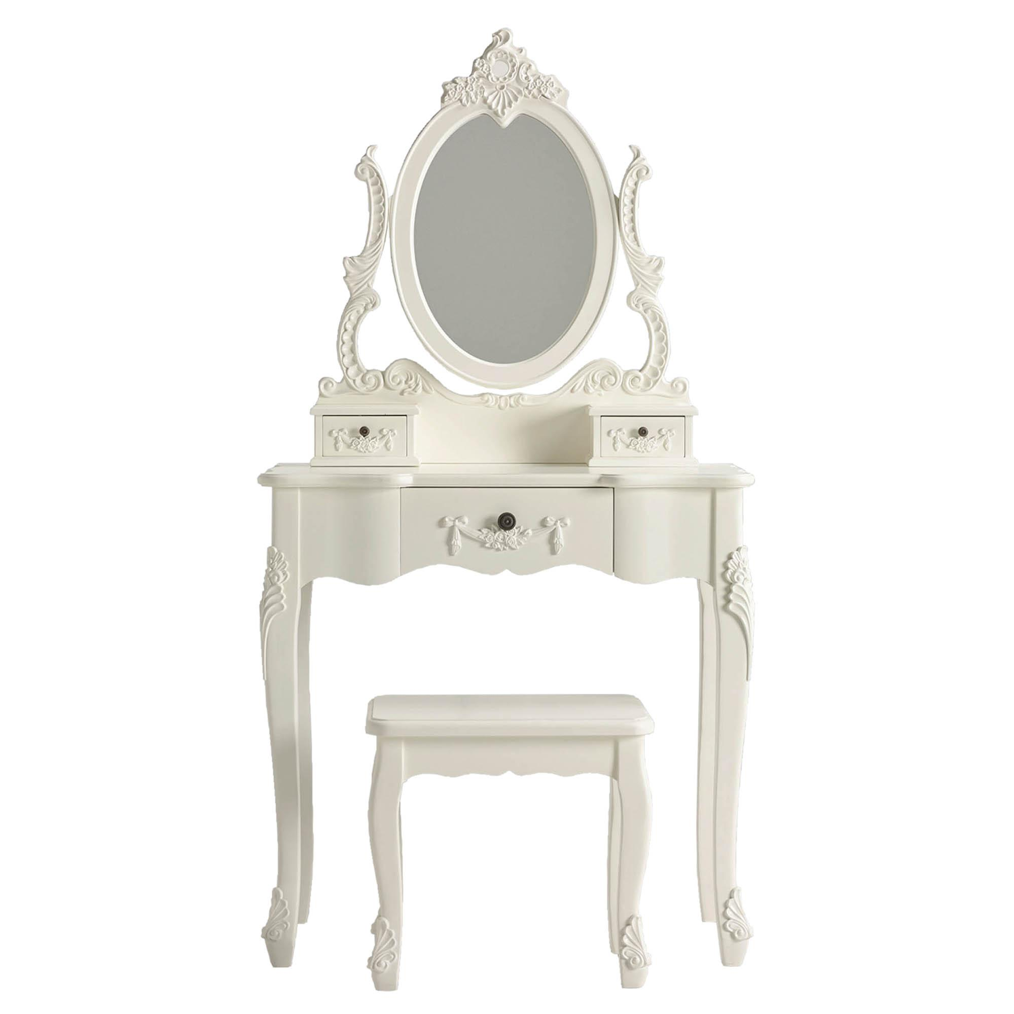 toulouse white dressing table set NEZGRIA