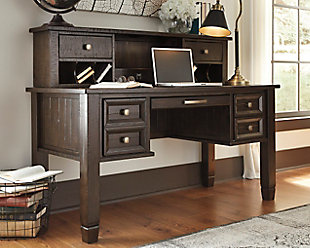 townser home office desk with hutch, , large ... FNRKRFJ
