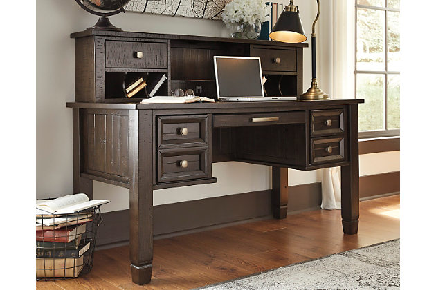 townser home office desk with hutch, , large ... GVZMOQS