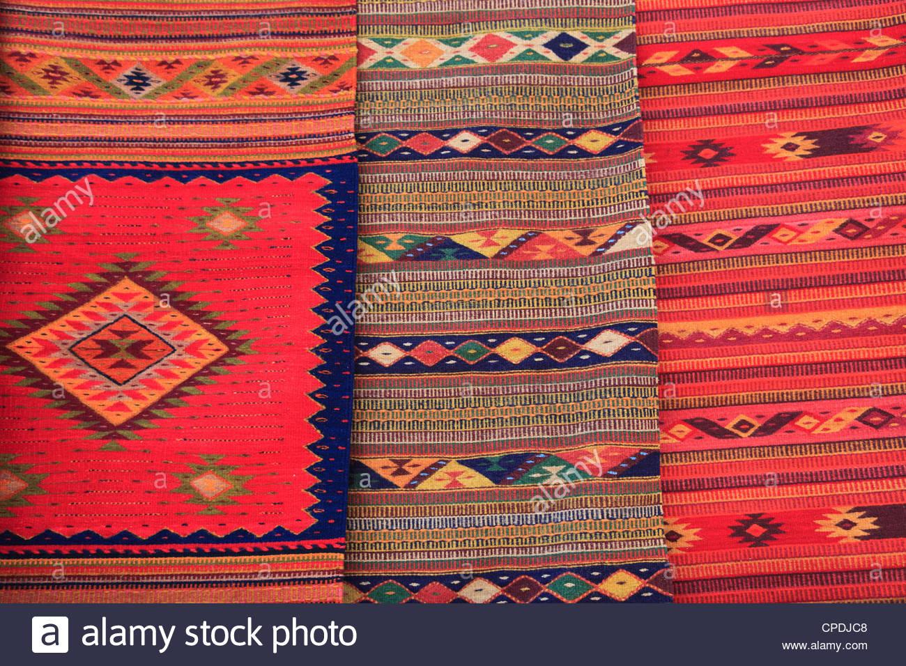 traditional hand woven rugs, oaxaca city, oaxaca, mexico, north america GNWDPIZ