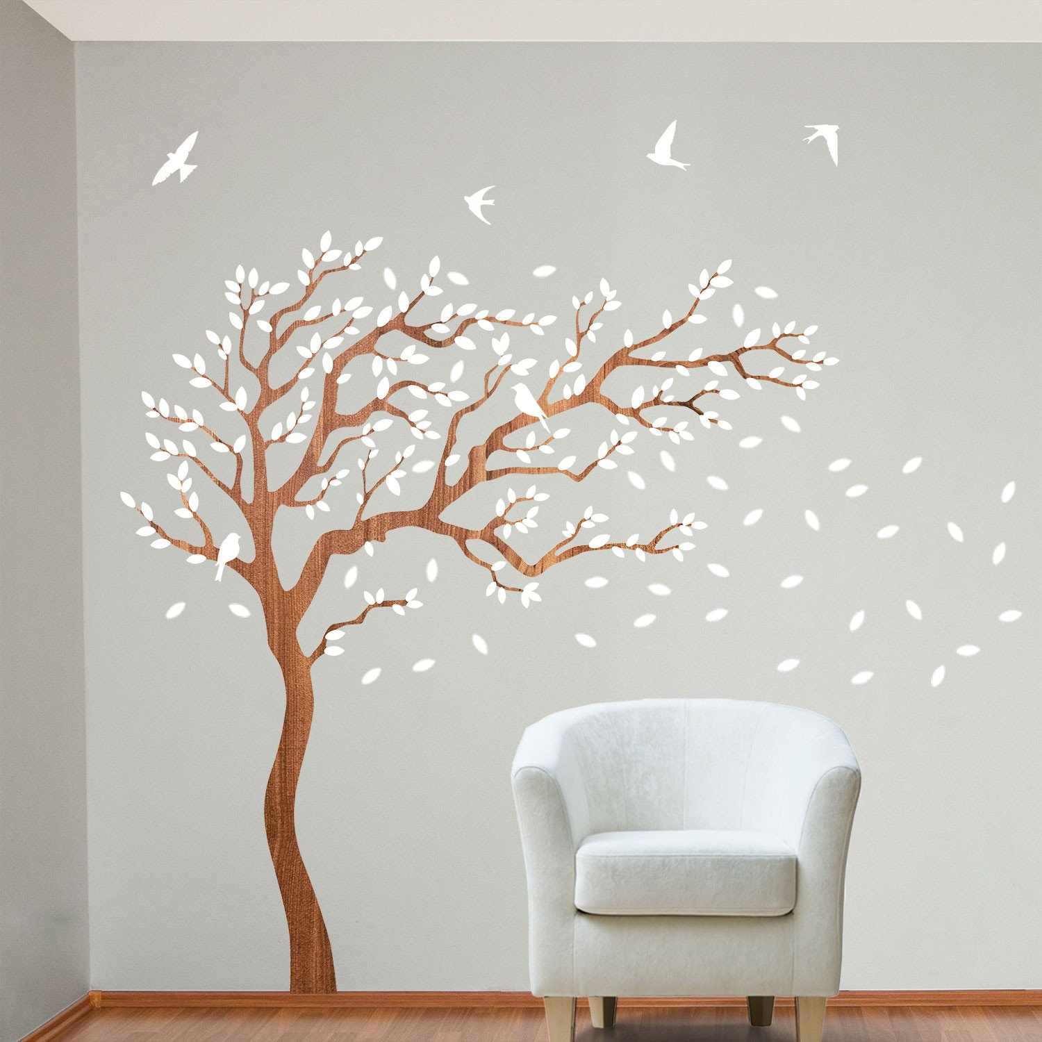 2d0e83a218f6 Tree Wall Stickers Bring Stunning Beauty to Your Home Interior ...