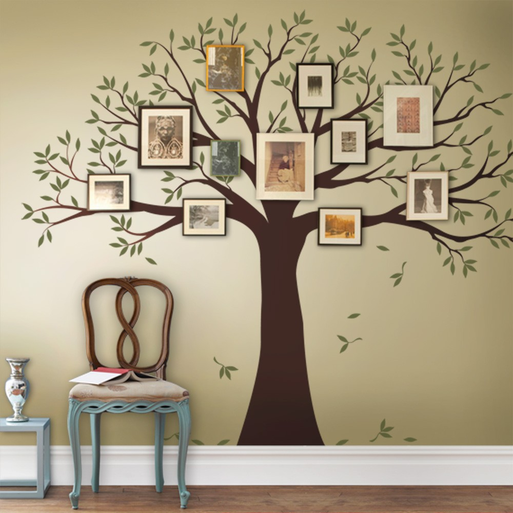 tree wall stickers family tree wall art decals GQLKOFY