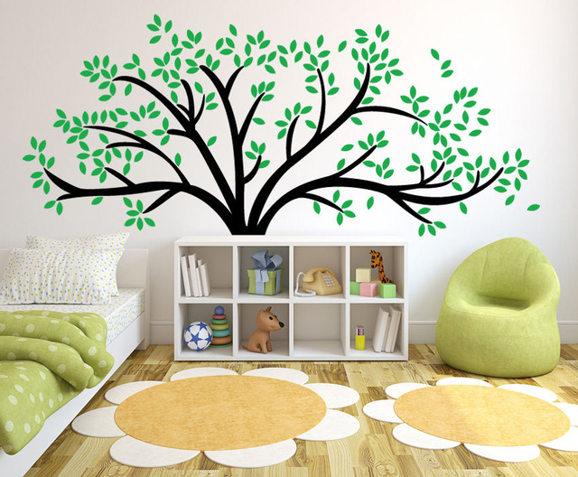 tree wall stickers giant family tree wall sticker vinyl art home decals room decor DPVGNKI